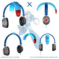 Mega Man X Headphones by BoneZi