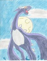 Shadow Lugia rises by DragonArtist16