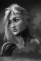 Female character concept/portrait by ssandulak