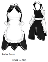 MMD- Butler's Dress -DL by MMDFakewings18