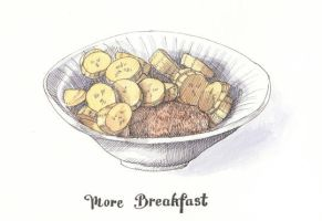 Weetabix and Banana Breakfast by monbaum