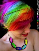 Rainbow Hair Art by littlehippy