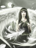 Sad Angel by vampirekingdom