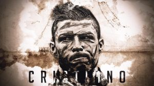 Cristiano Ronaldo Digital Painting Wallpaper by EsegaGraphic