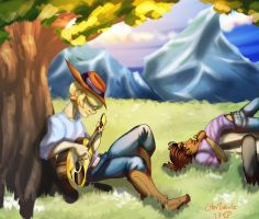 Clay And Izak Commission by Squ1dP0ny