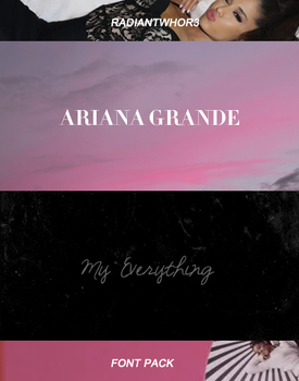 +MY EVERYTHING FONT PACK by RADIANTWH0R3