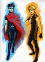 Wiccan Hulkling sketch by bluestraggler