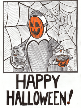 Happy Halloween - 2015 - Let's Chicken! by ellycolor