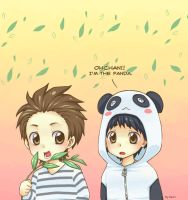 Ohchan, pandas eat grass. by demidemi