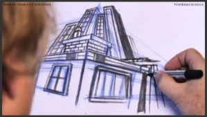 Learn how to draw city buildings 031 by drawingcourse