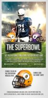 SuperBowl Football Flyer Template by saltshaker911