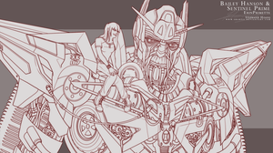 Commission: Bailey Hanson + Sentinel Prime by SHArtII