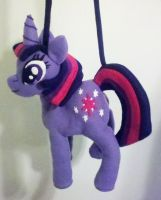 Adorable Custom Plush Pony Bag: Twilight Sparkle by Lady-with-a-buzzsaw