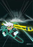Danny Phantom in Tron Challenge by Rene-L