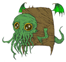 Cute Cthulu :COLLAB: by BlackSnowWonderland