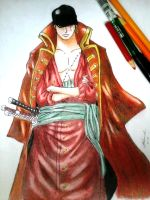 Zoro as depicted from One Piece Film: Z by Adamichi