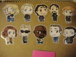 Avengers Civies - Door Chibi Set by Kiell-Art