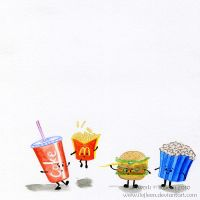 Four fast food friends by Ilojleen