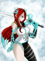 Erza Ice Empress Armor by Mirajanee