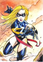Ms. Marvel Sketchcard commish by Csyeung