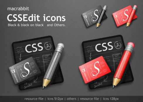 CSSEdit Black Icons by Gpopper