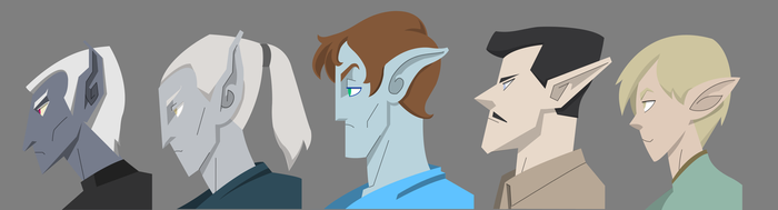 Elf Profiles Male by Mr-Greeley