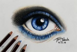 Big Blue Eye | Practice drawing by Tressytc