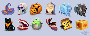 Halloween icons by vtrvtrn