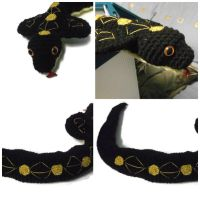 Black and gold cobra amigurumi by ShadowOrder7