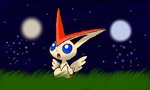 Victini and Fairies by LunaClefairy