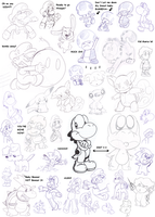 lots o doodles 2 by Nintendrawer