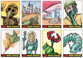 Heritage Mars Attacks! Sketch Cards - 12 by Monster-Man-08