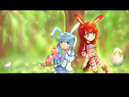 Dragon Saga Easter loading screen~ by MiMikuChair