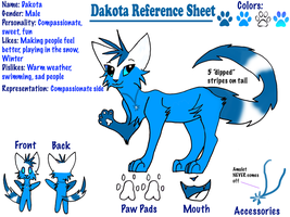 Dakota Reference Sheet by LightStudioz