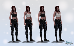 Mass Effect 3 Modded Casual Outfit V1.5 (OLD) by KurauAmami