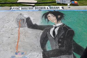 Anime Chalk art by RougaFang