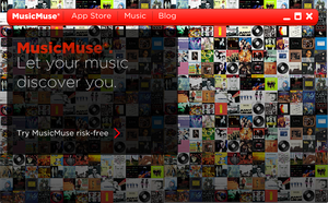MusicMuse Interface: Updated by millenniumbugstudios