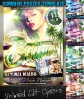 Summer poster template by yuval10203