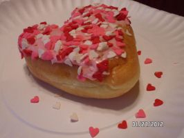 valentines day donut by likewoah980