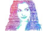 Anne Hathaway in Text by TheDragonMystic