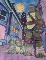 Raphael and Leonardo by AprilONeil1984