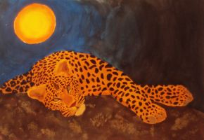 Sunset Leopard by inner-etch