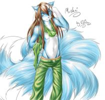 Nine Tailed Mushni by Teh-stupid-bug
