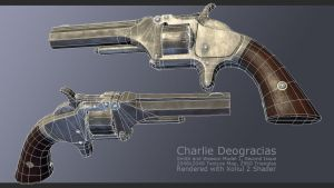 Smith and Wesson Model 1 Wireframe by charliedeft