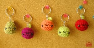 Sweet Baby Fruit Keychains by PosiPlush