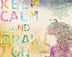 keep calm and draw on by one8edegree