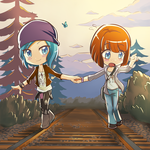 Life is Strange Chloe and Max by kyuyoukai