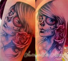 Day Of the Dead Tattoo by illogan