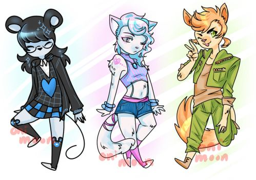 furry adopt batch auction (points/$$) by Oni-Moon
