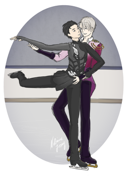 Yuri on Ice - Victuuri (Secret Santa) by NelaineIvory